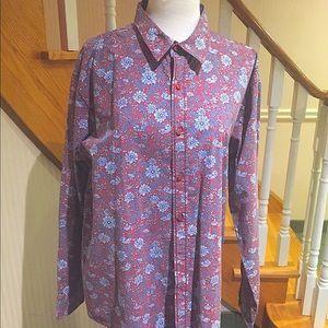 NWOT Men's long sleeve floral shirt